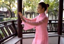 gymnastique chinoise du matin Tai-Chi dans la grâce