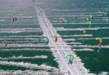 Grosse compétition de kitesurfing