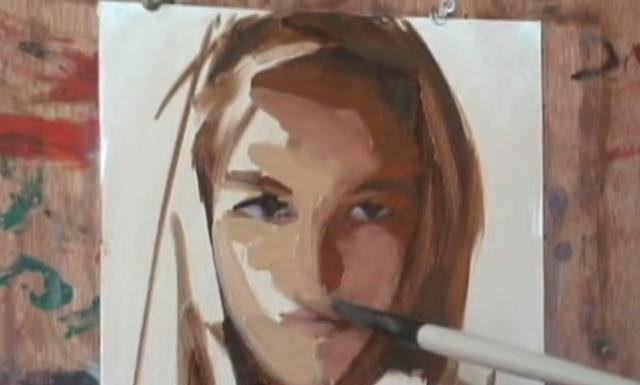 Portrait de femme à l'huile magnifique