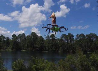 Drone permettant à une personne de voler debout