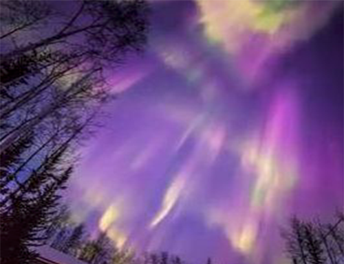 Aurores boréales vues d'Alaska