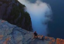 Une falaise de 600 m de haut en Norvège