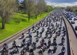 Des motards par centaines se rassemblent