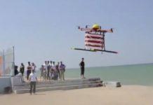 Drone de sauvetage avec bouées