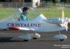 Démonstration du vol d'un petit avion electrique