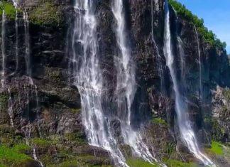 Magnifiques images d'un fjord en Norvège