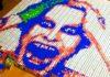 Portraits de célébrités réalisés au Rubik's Cube