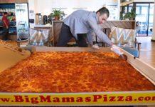 La plus grosse pizza livrée du monde