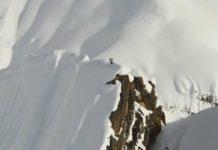 Vidéo époustouflante d'un skieur hors-piste courageux