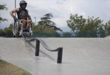 Aaron Fotheringham tricks en fauteuil roulant