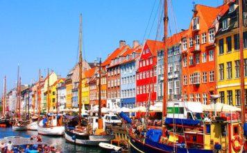 Survol de la ville de Copenhague