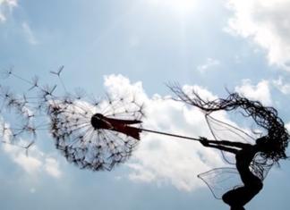 superbes sculptures en fil de fer