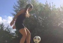 Technique de dribble au foot en talons aiguilles