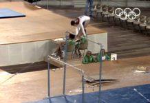 vidéo gymnastique barres asymétriques, Olga Korbut