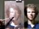 Auto-portrait peint par Ewan McClure devant un miroir