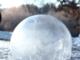 Une bulle d'eau qui gèle en direct